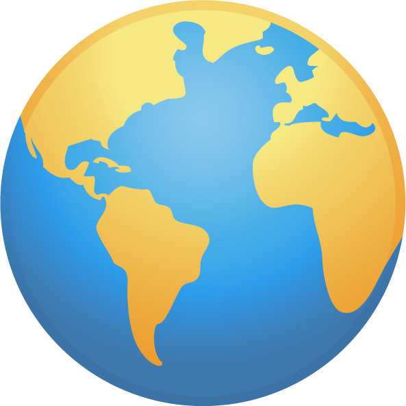Globe world map clip. Planets clipart painting