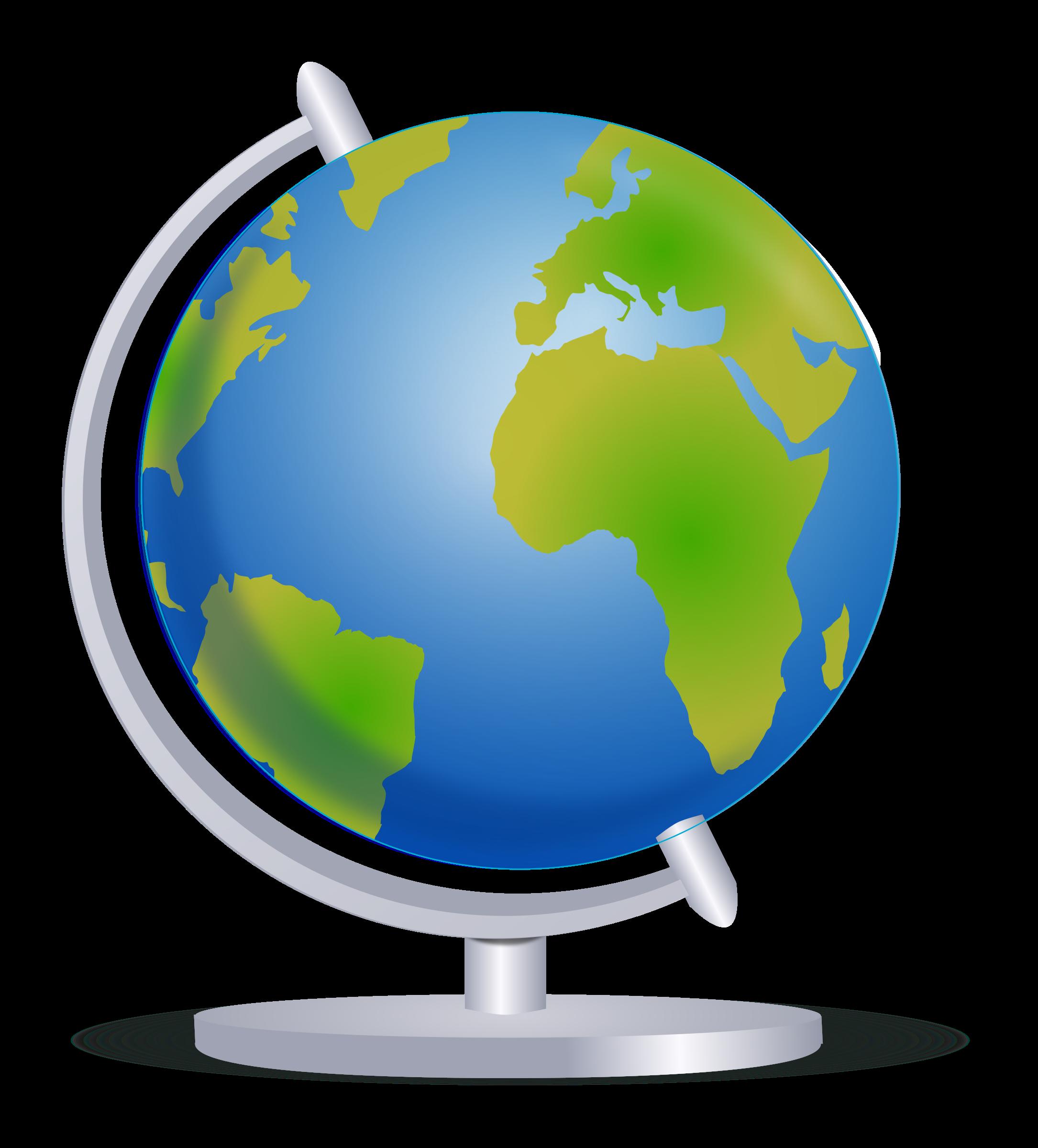 Globe on stand big. History clipart globes