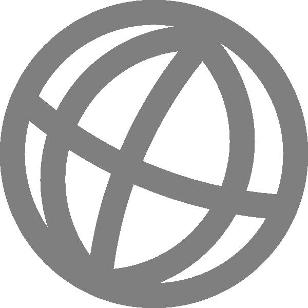 Globe clipart black and white. Icon clip art at