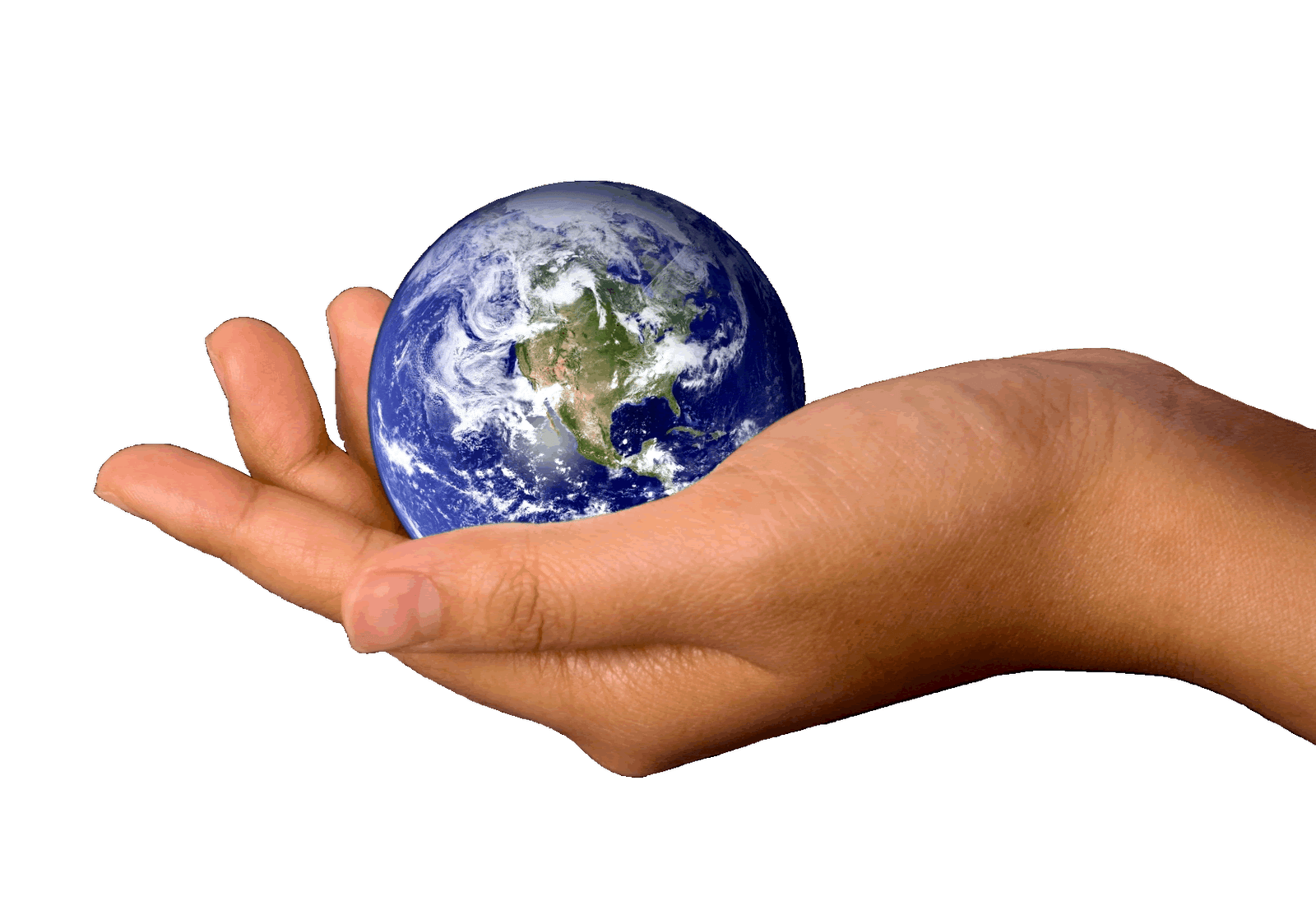 Hand earth transparent png. Clipart world holding hands