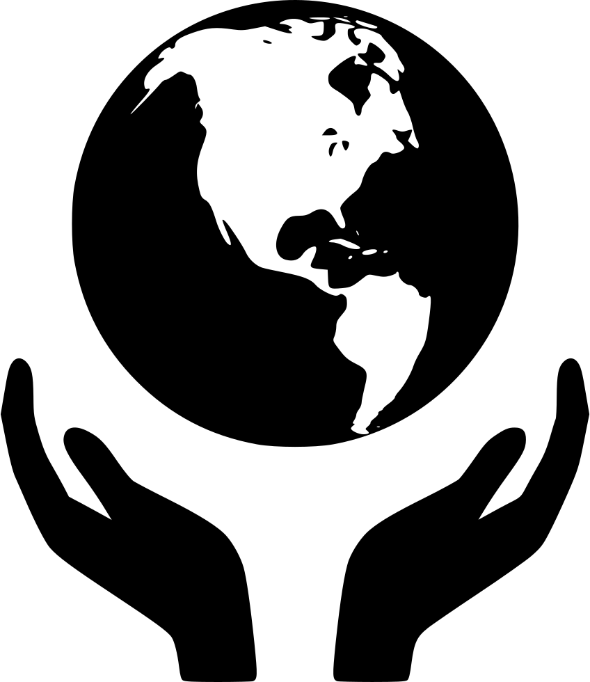Svg png icon free. Clipart world holding hand around world