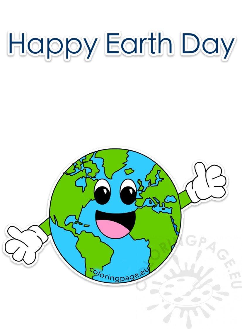 Clipart globe happy. Earth day world cartoon
