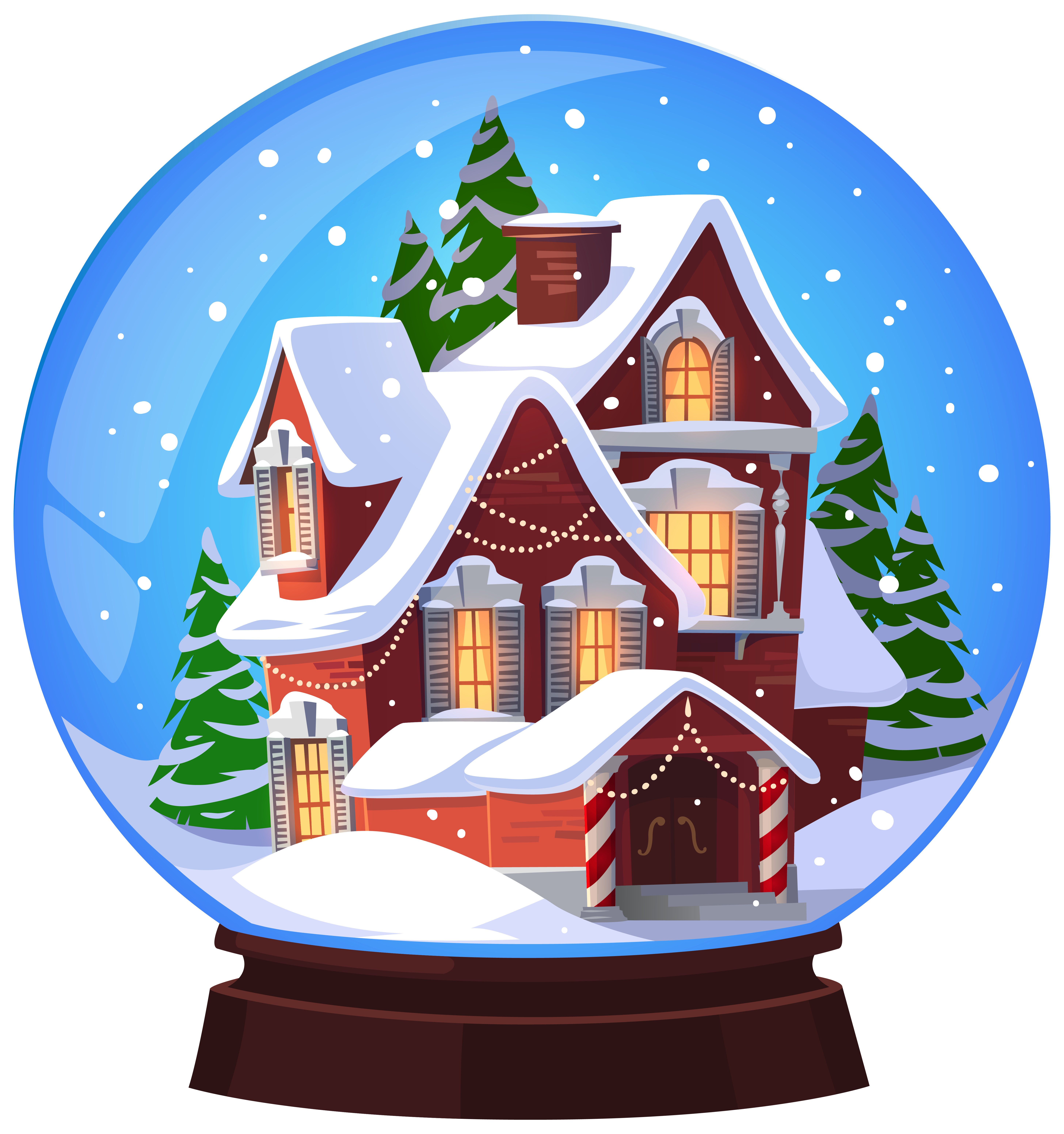 Home clipart christmas. House snowglobe transparent png