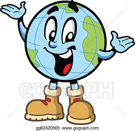 Clipart globe happy. Eps vector guy stock