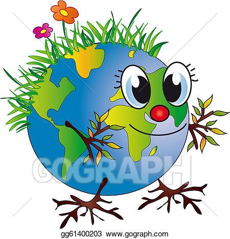 Stock illustration gg gograph. Clipart globe happy