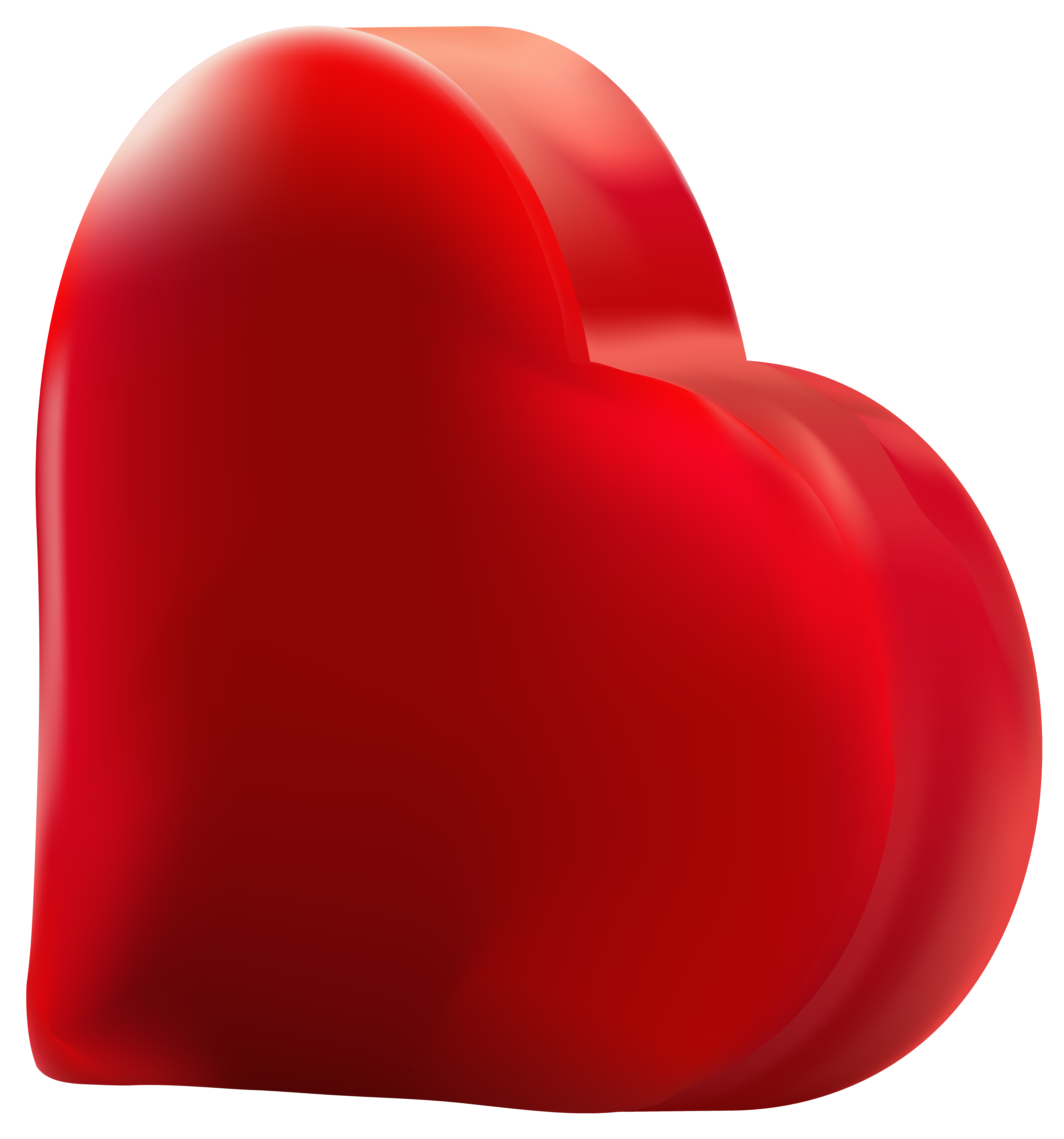 Red heart transparent png. Hearts clipart soccer