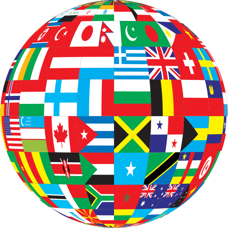 United medium image png. Globe clipart red