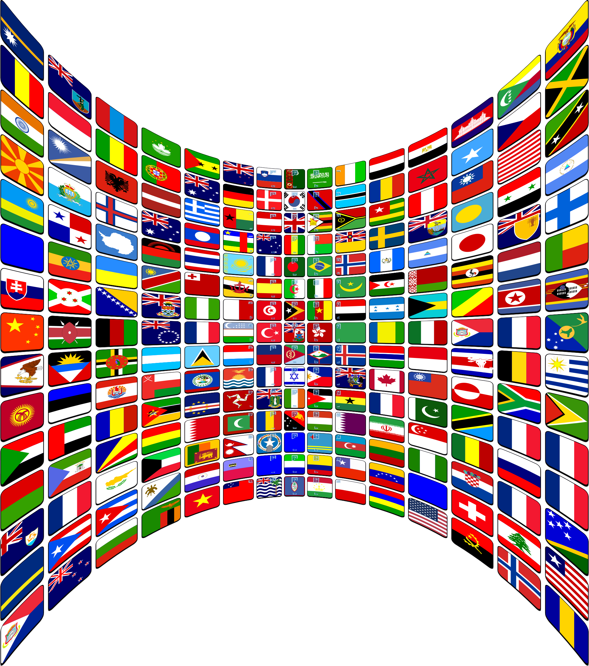 Flag buttons perspective big. Clipart world flags