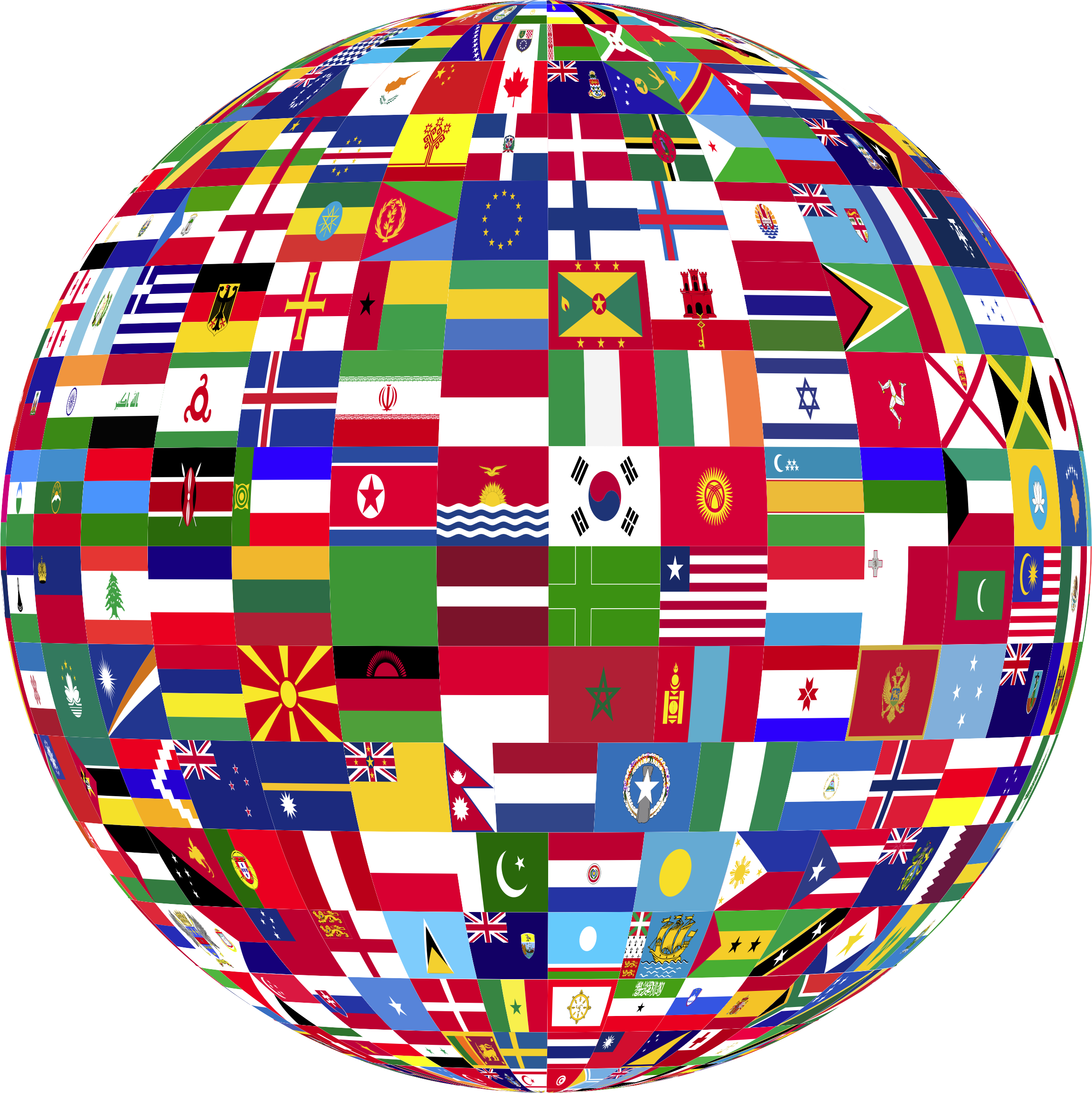 Clipart world flags. Globe big image png