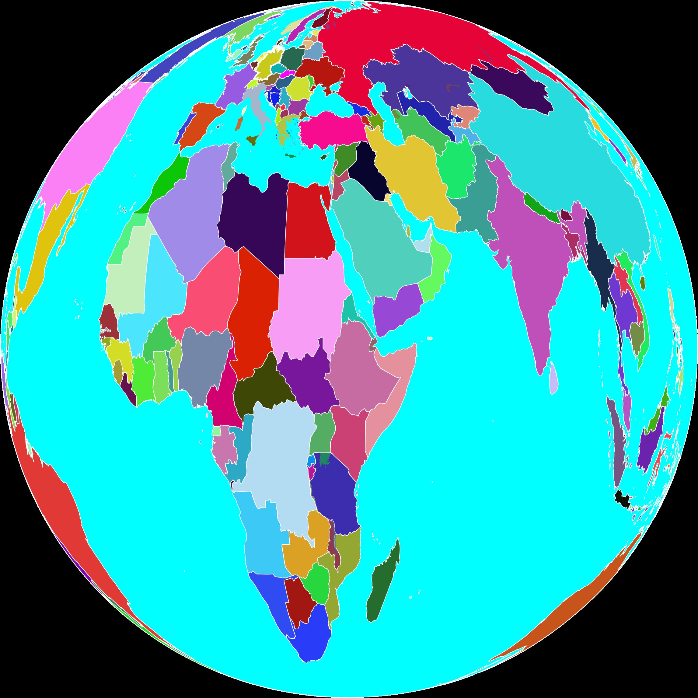 Clipart world globle. Colorful globe
