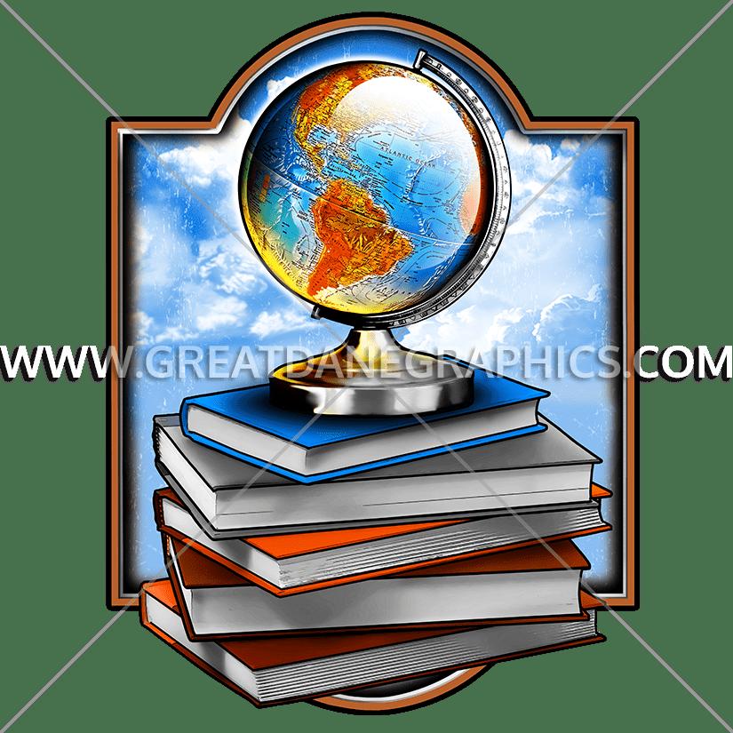 Books production ready artwork. Clipart globe item
