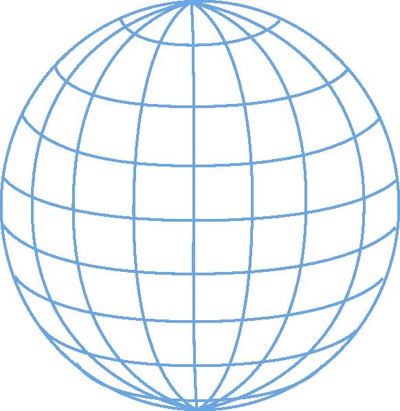 Globe outline . Clipart world vector