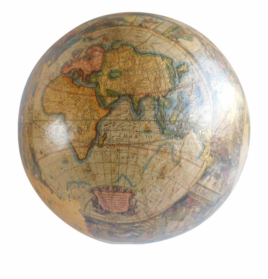 Clipart globe old fashioned. Vintage papier mache world