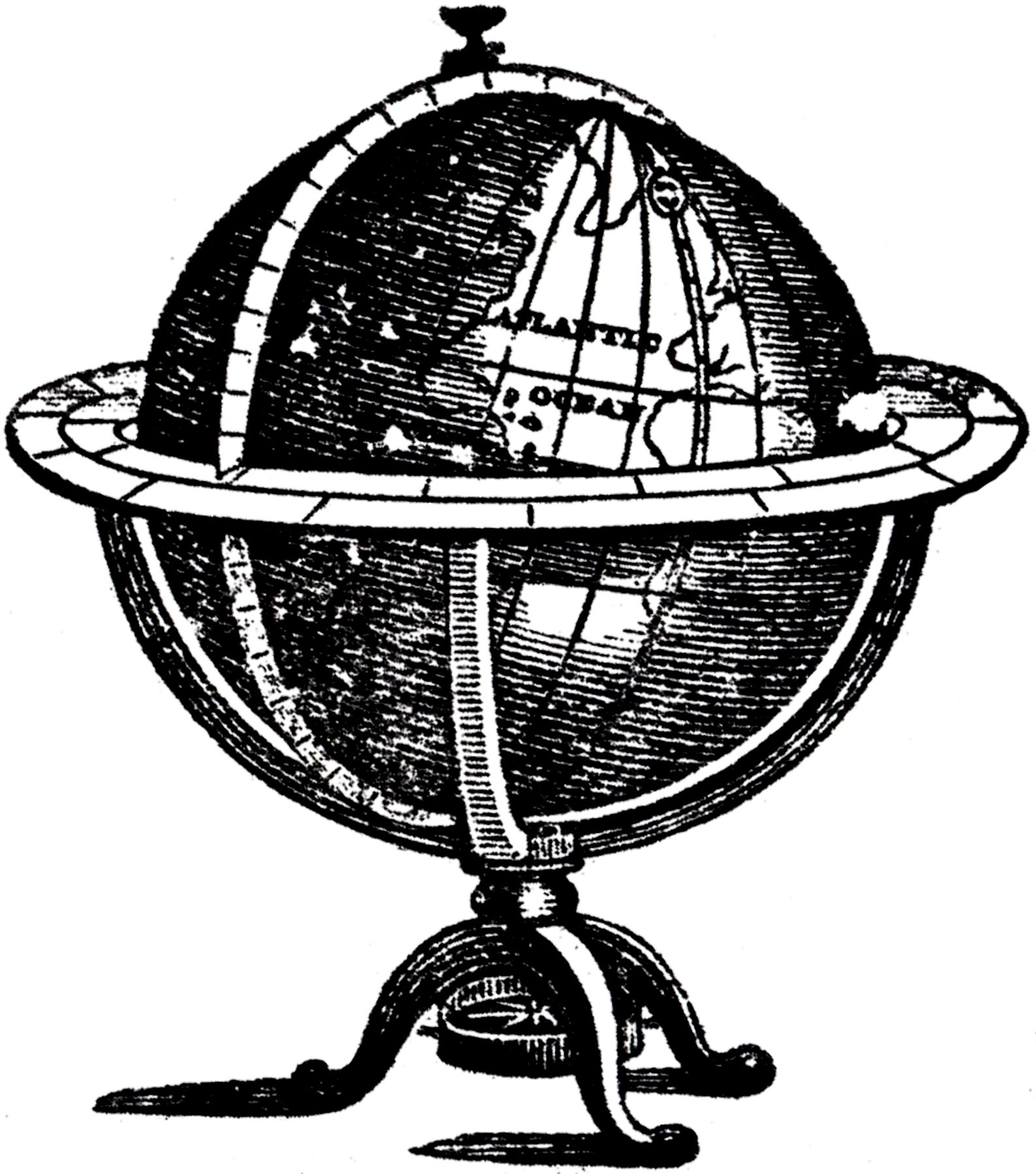 Clipart globe old fashioned. Pin by debbie bell