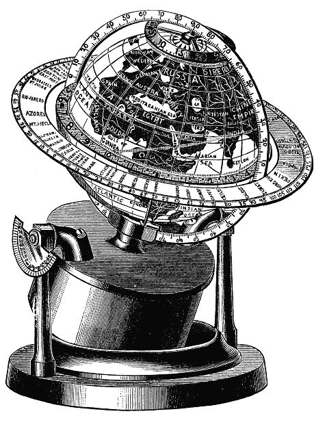 Vintage clip art the. Clipart globe old fashioned