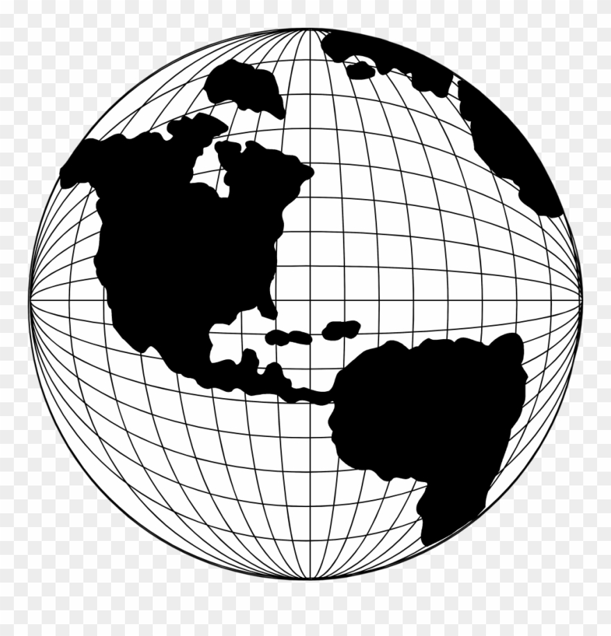 Globe clipart line. Map pencil and in