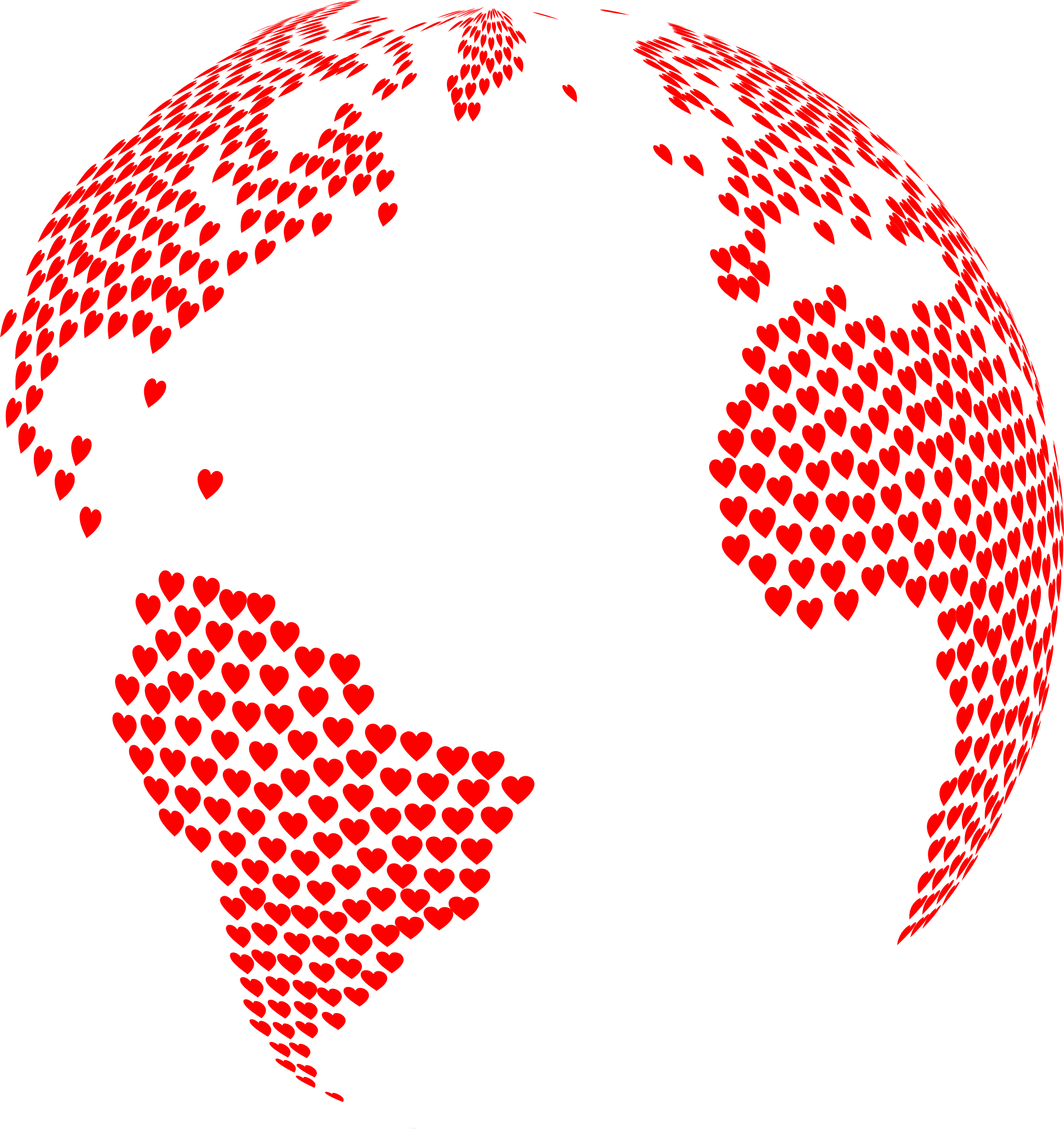 Globe clipart heart. Hearts big image png