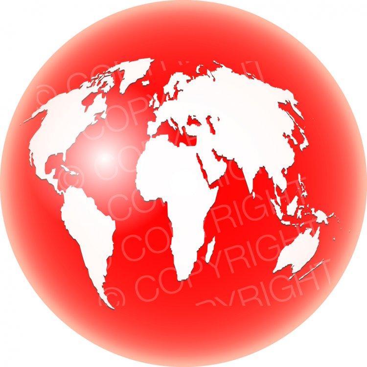 Globe clipart red. World clip art prawny