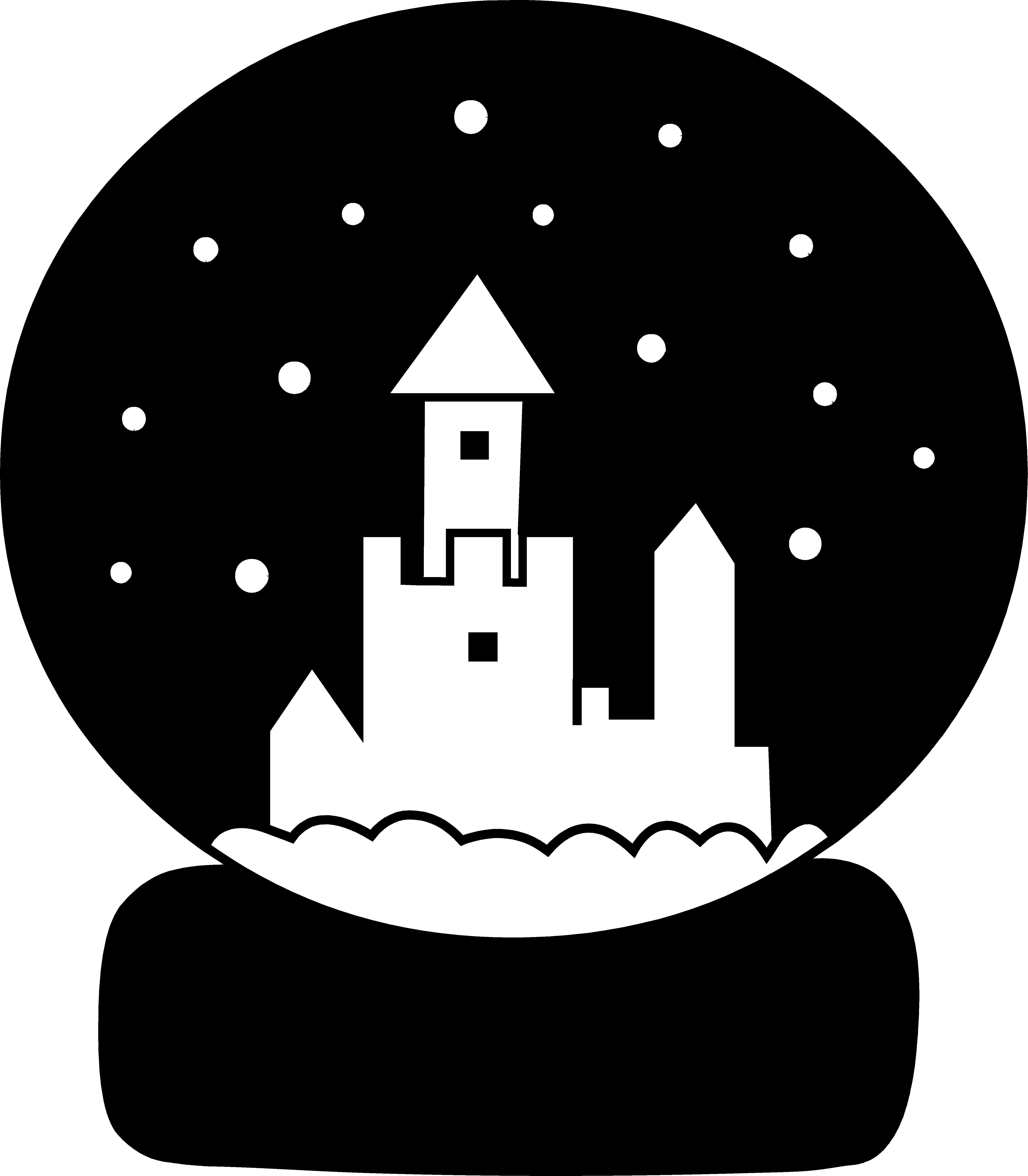 Snow silhouette free clip. Globe clipart black and white