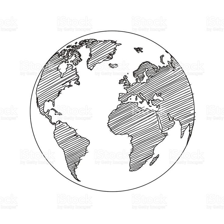 Clipart globe sketches. World map sketch in