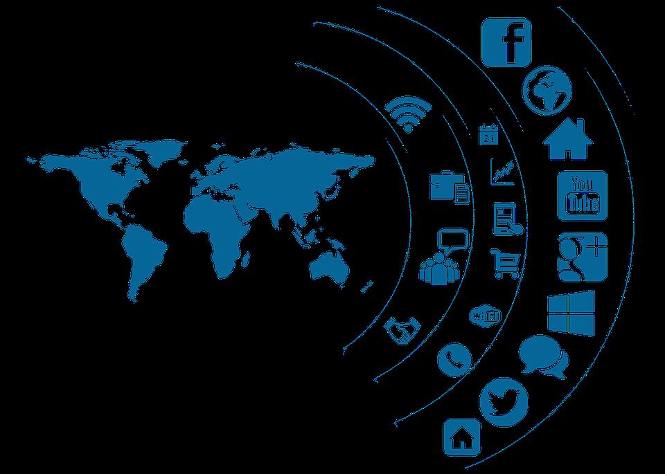 globe clipart social media