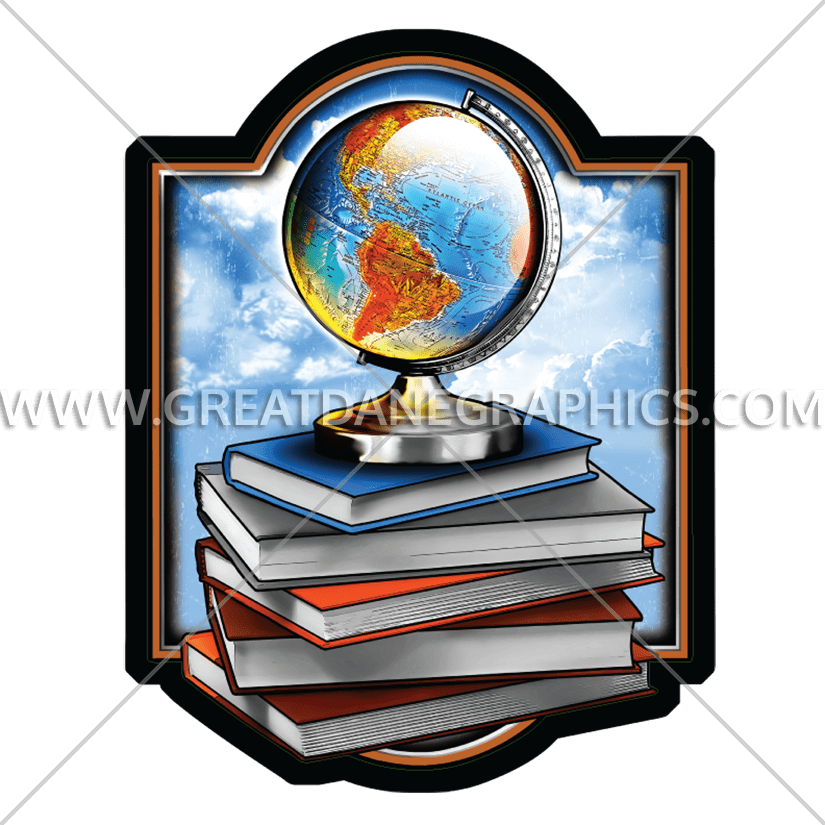 Books production ready artwork. Clipart globe stock