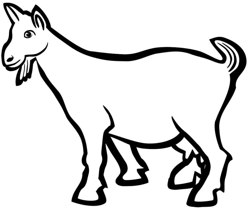 Clipart goat. New free black and