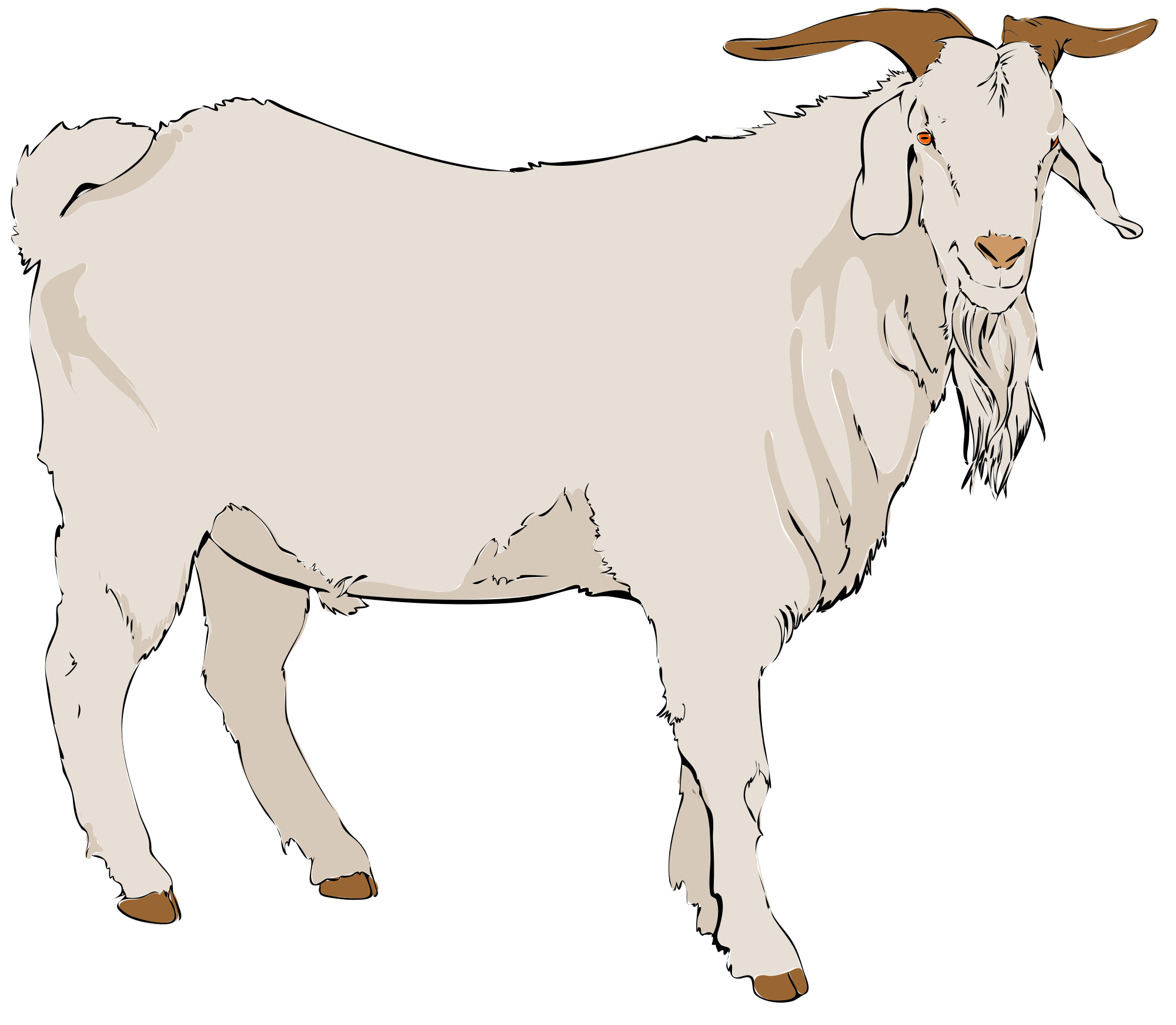 Goat clipart. File svg wikimedia commons