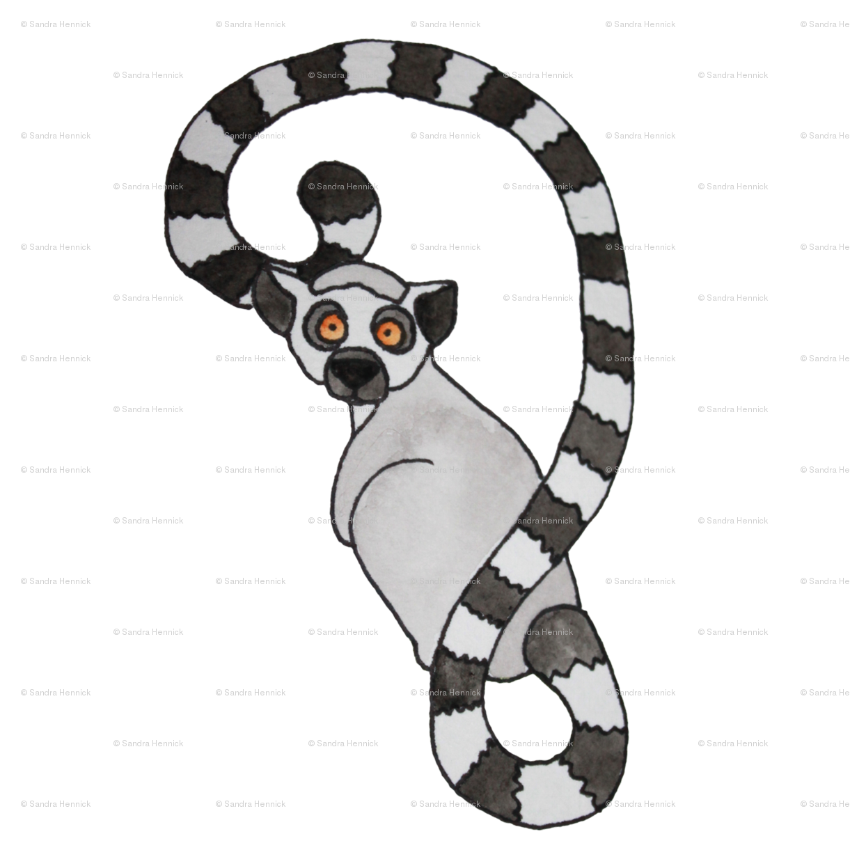 Clipart goat baby lemur. Ring tailed fabric ottdesigns