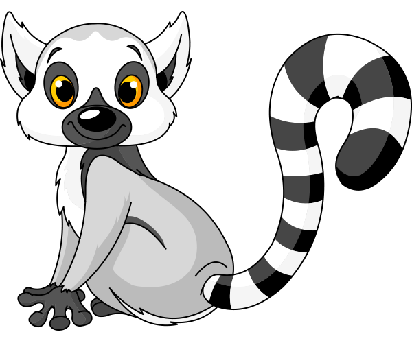 Clipart goat baby lemur. Ringtail animal icons cute