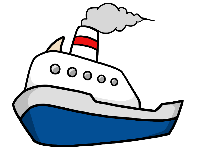 Pictures of cartoon boats. Mayflower clipart cruise