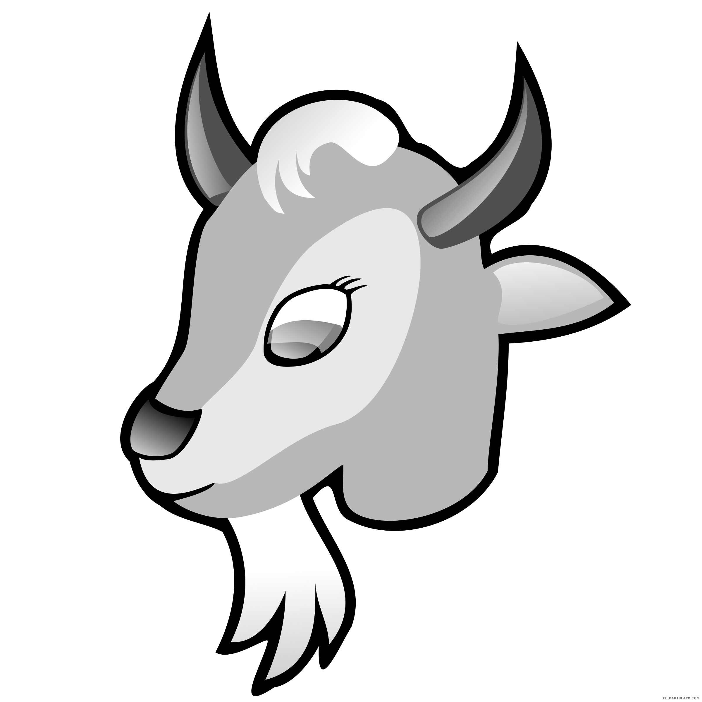 Goat clipart black and white. Page of clipartblack com
