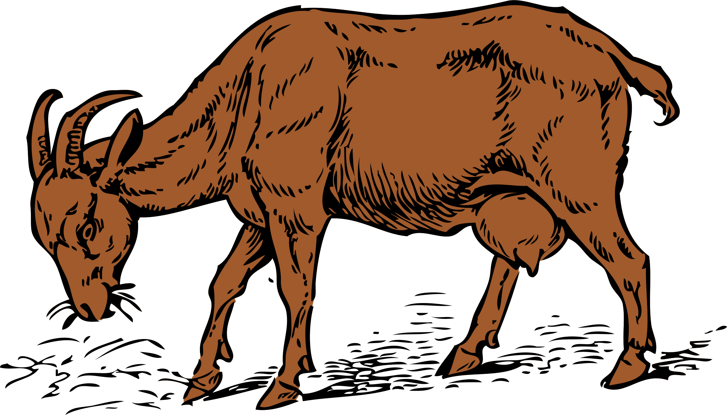 Goat clipart brown goat. Big image png