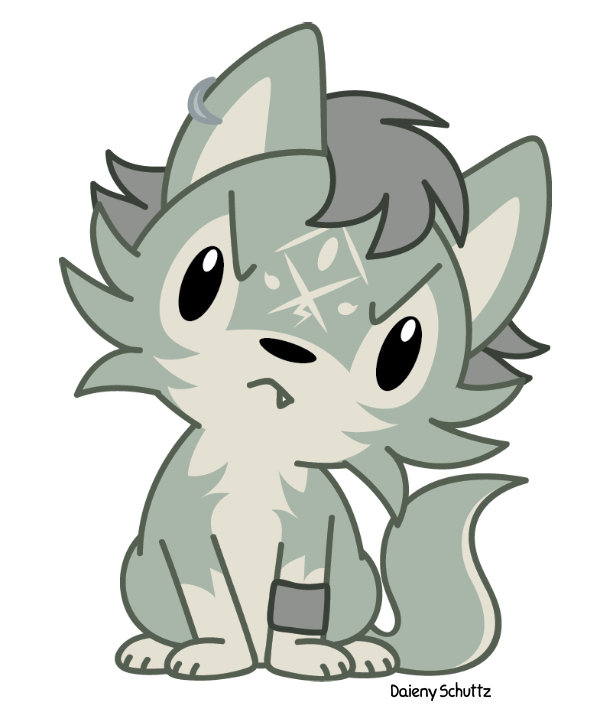 Chibi link by daieny. Wolf clipart kawaii