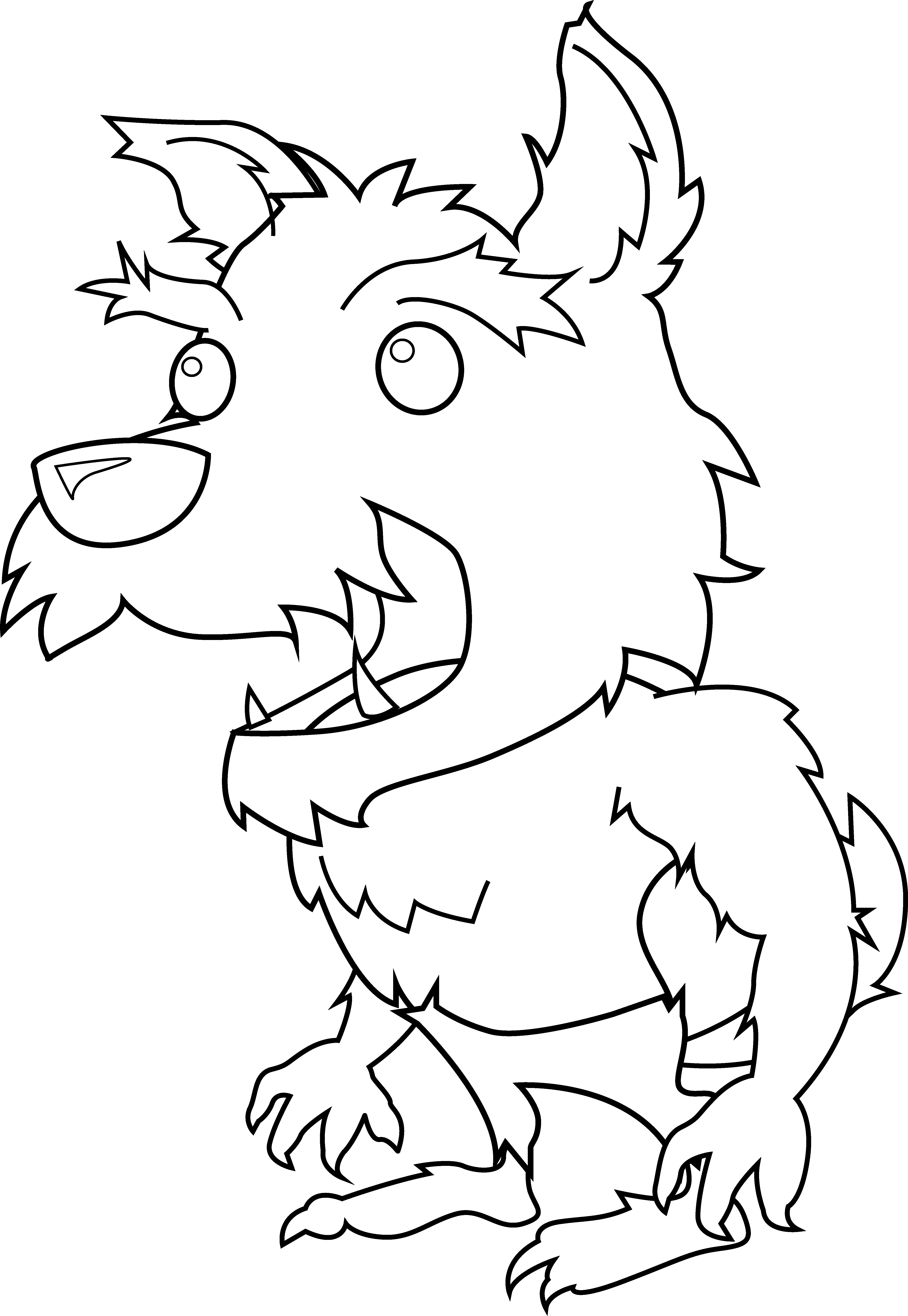 Magician clipart folklore. Scary little werewolf coloring