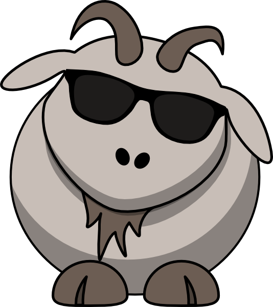 Goat with clip art. Clipart sunglasses cool guy