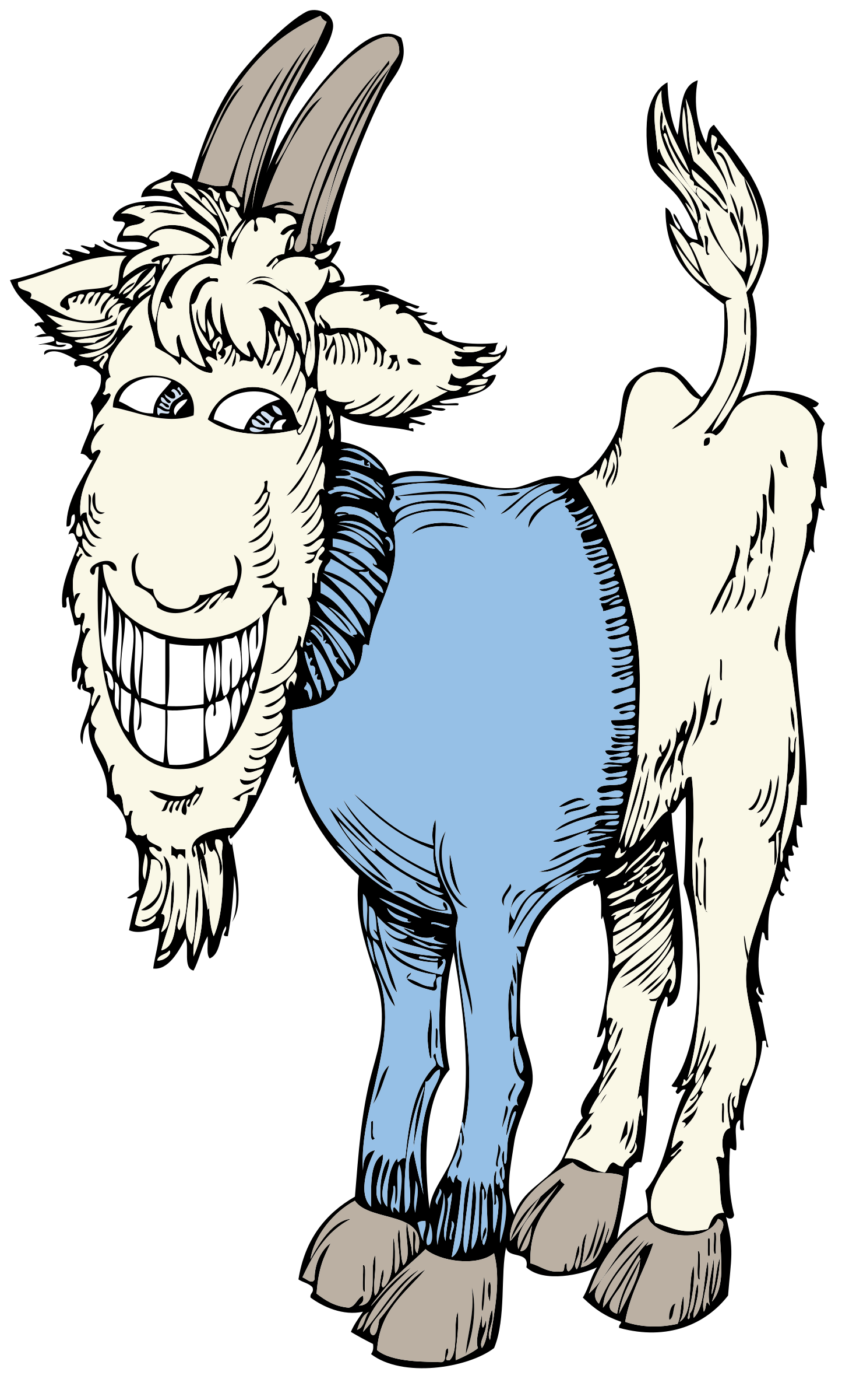 In a sweater image. Goat clipart big goat
