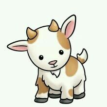 Pin by fabulous frog. Clipart goat cute anime