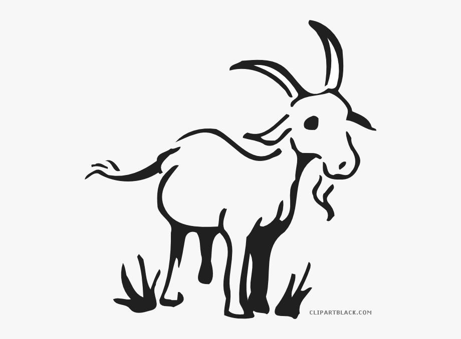 Yoga simple drawing free. Goat clipart goat grazing