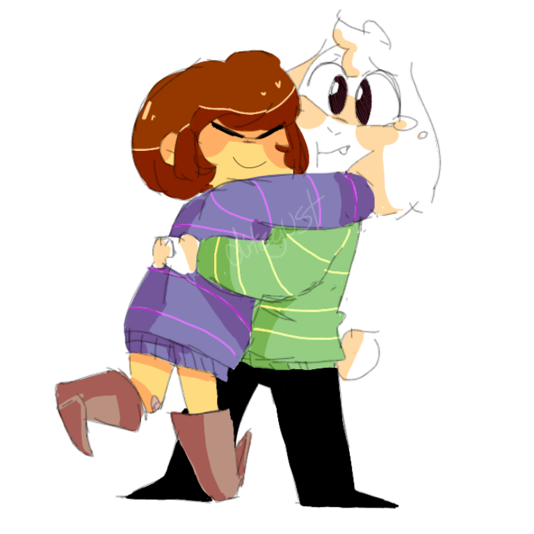 Hug the confuse undertale. Clipart goat cute anime