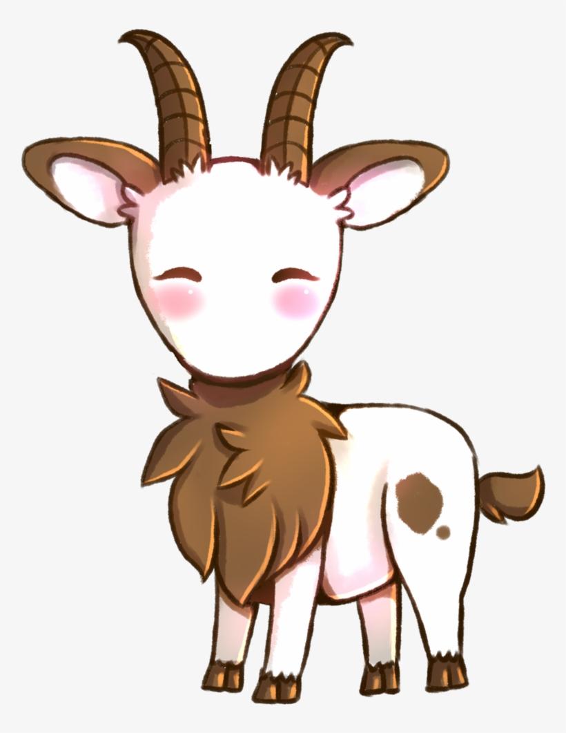 Clipart goat cute anime. Goats head chibi drawing