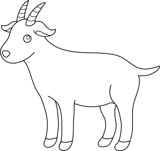 Free download clip art. Clipart goat drawing