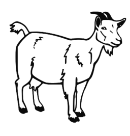 Clipart goat drawing. Free download clip art