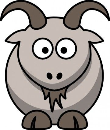 Clipart goat easy. Baby animals party inspiration