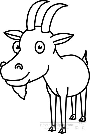 Goat clipart easy. Pin by nelda mullins