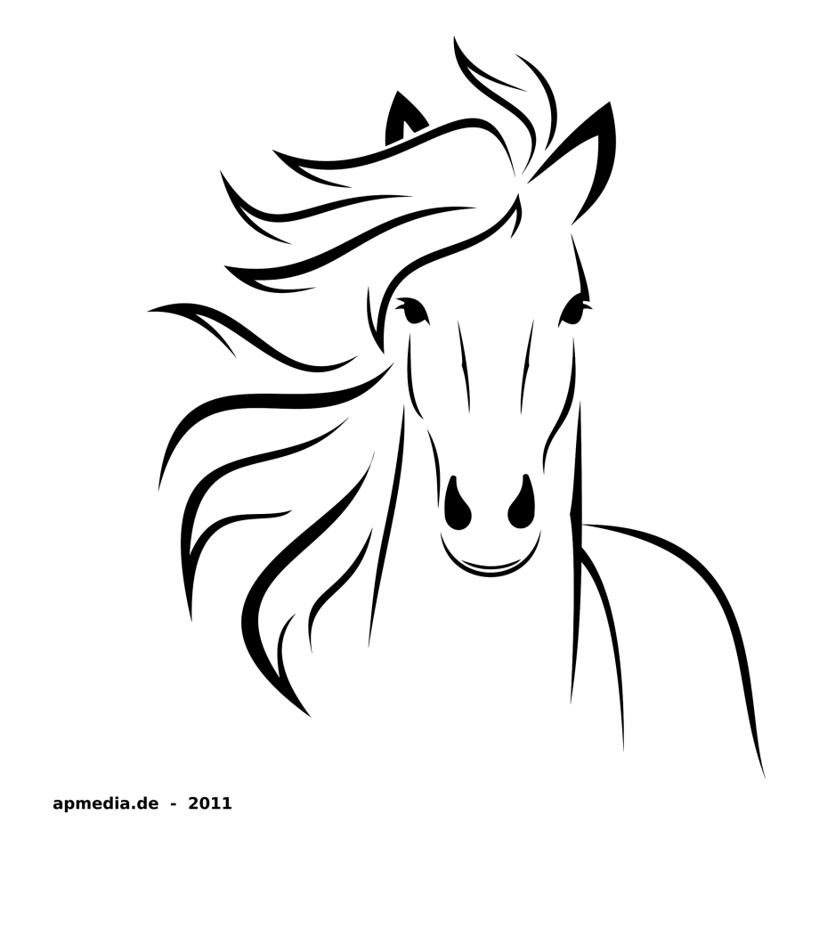 Goat clipart easy draw. Horse drawing cliparts cartoons