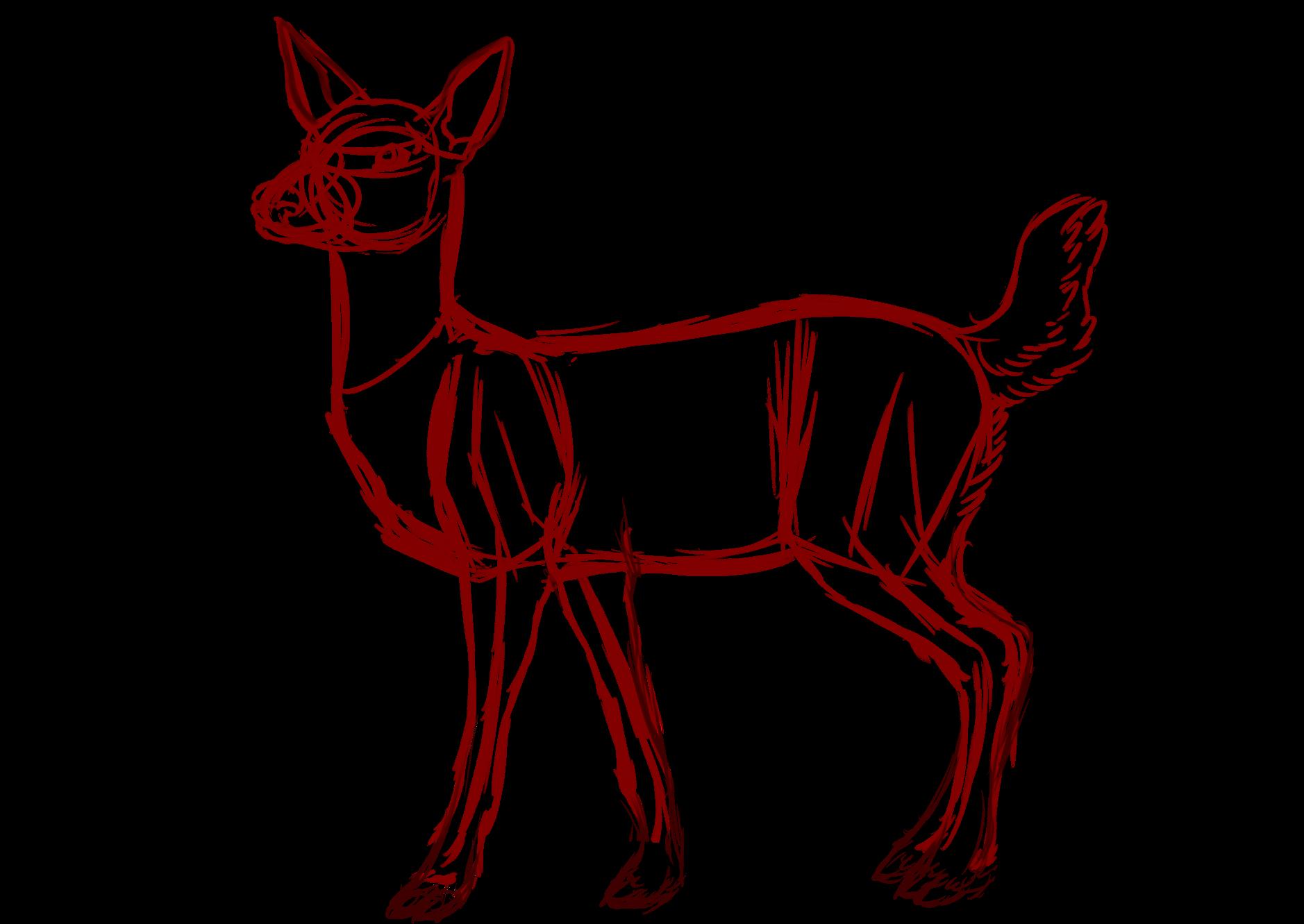 Deer clipart snow. Drawing tutorial at getdrawings