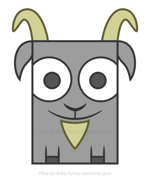 Clipart goat easy draw.
