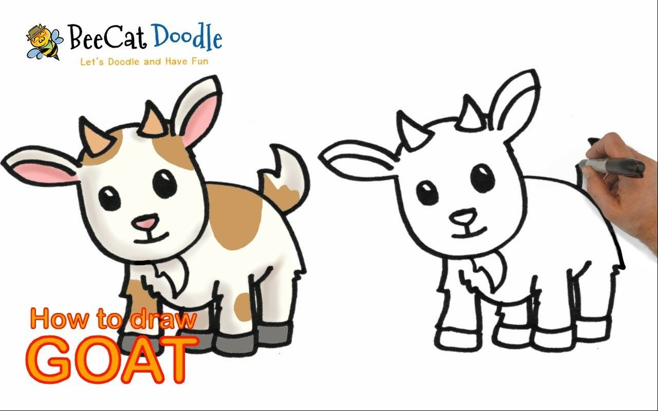 Clipart goat easy draw. Pin by terena thi