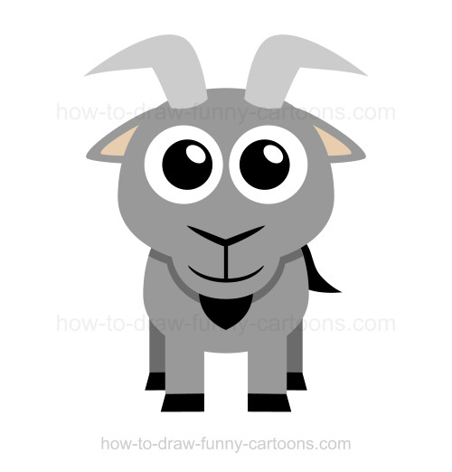 How to a . Clipart goat easy draw